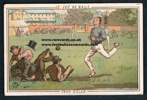 1890s Smeets Brussells cricket card